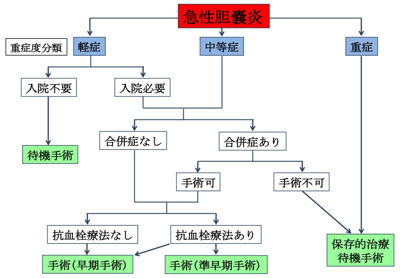 図4 当科での胆のう炎診療方針